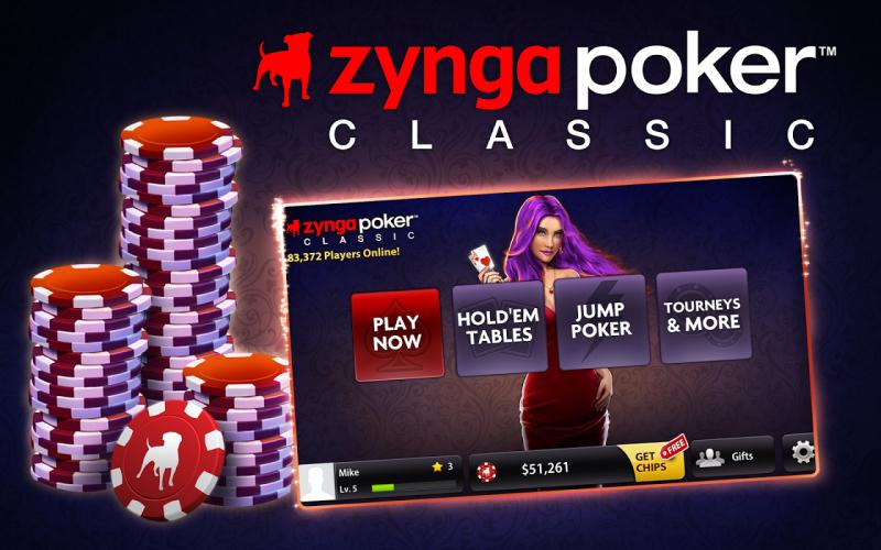 Zynga Poker poker app